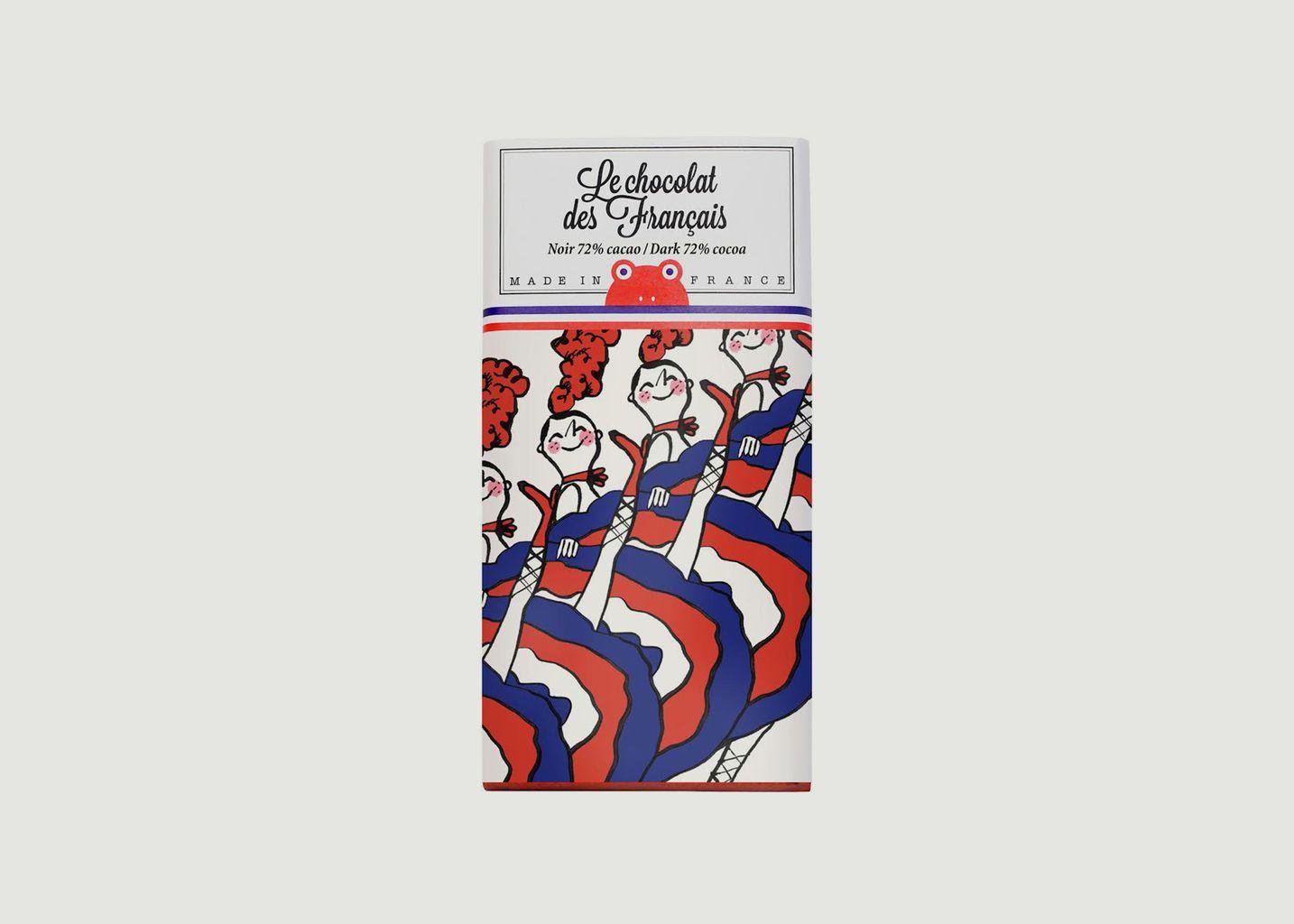 Tablette Cabaret - Noir 72 - Le Chocolat des Français