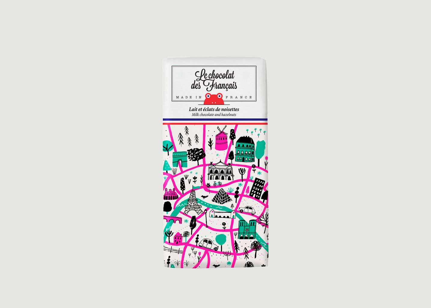 Tablette Plan de Paris - Lait et Noisettes - Le Chocolat des Français