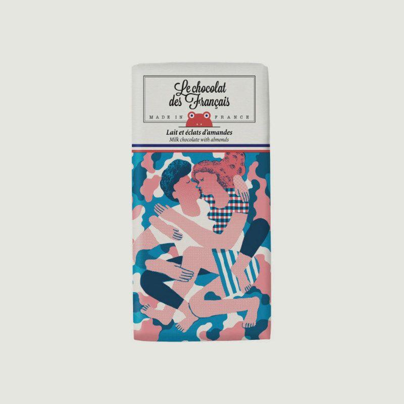 Tablette Chocolat Bio Lait & Amandes Le Câlin - Le Chocolat des Français