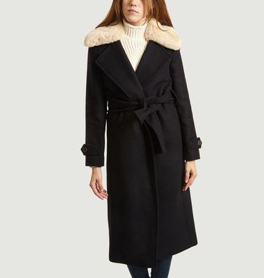 Manteau Avec Col Effet Fourrure Métropole