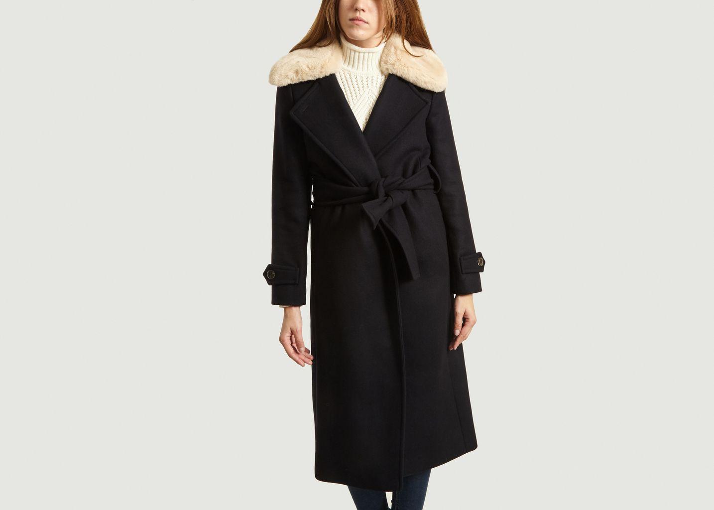 Manteau Avec Col Effet Fourrure Métropole - Maison Lener
