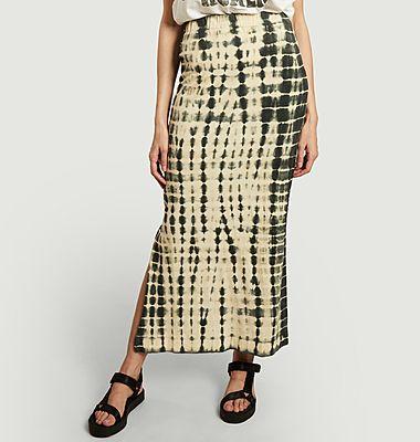 Joyeux tie and dye organic cotton long skirt
