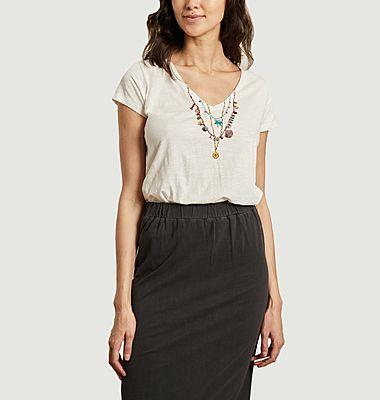 T-shirt en coton bio avec perles brodées Tonton Palm