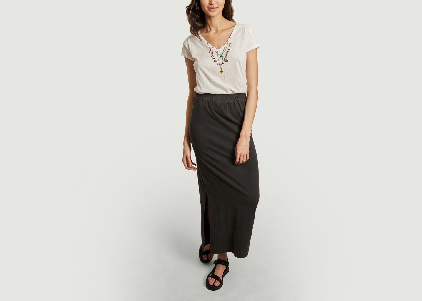 T-shirt en coton bio avec perles brodées Tonton Palm - Leon & Harper