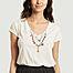 matière T-shirt en coton bio avec perles brodées Tonton Palm - Leon & Harper
