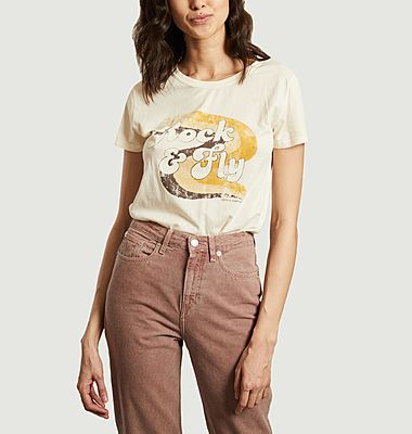 T-shirt imprimé en coton bio Toro Fly