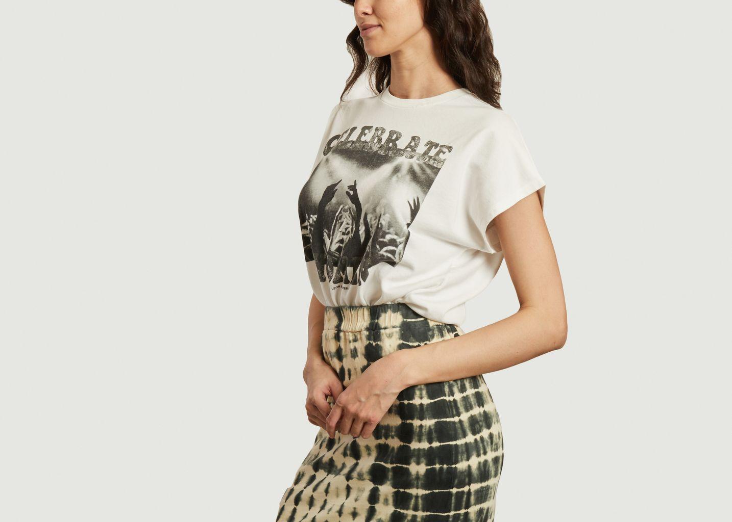Sweatshirt manches courtes en coton et modal Sam Concert - Leon & Harper
