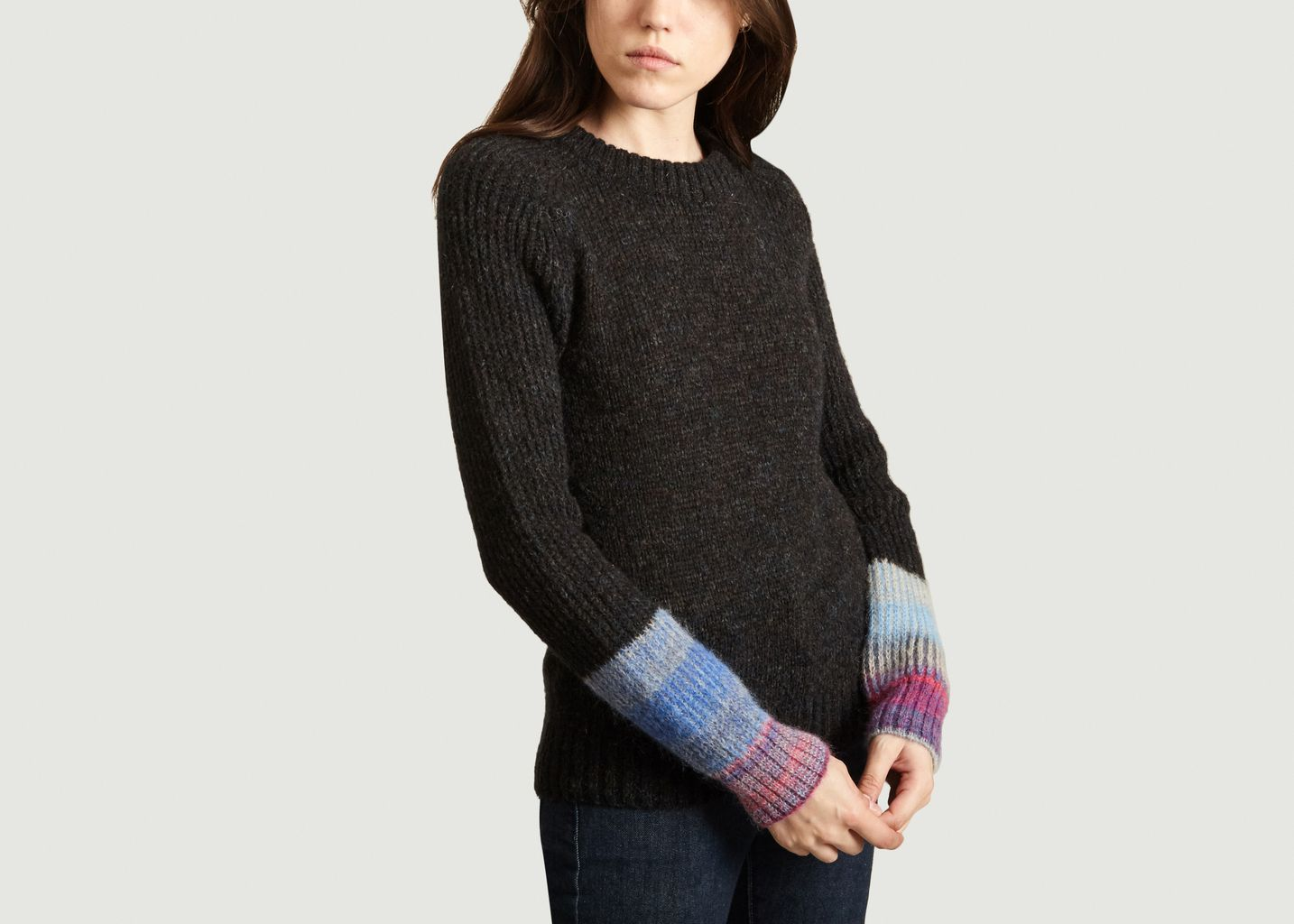 Pull A Manches Contrastées Muse Rainbow - Leon & Harper
