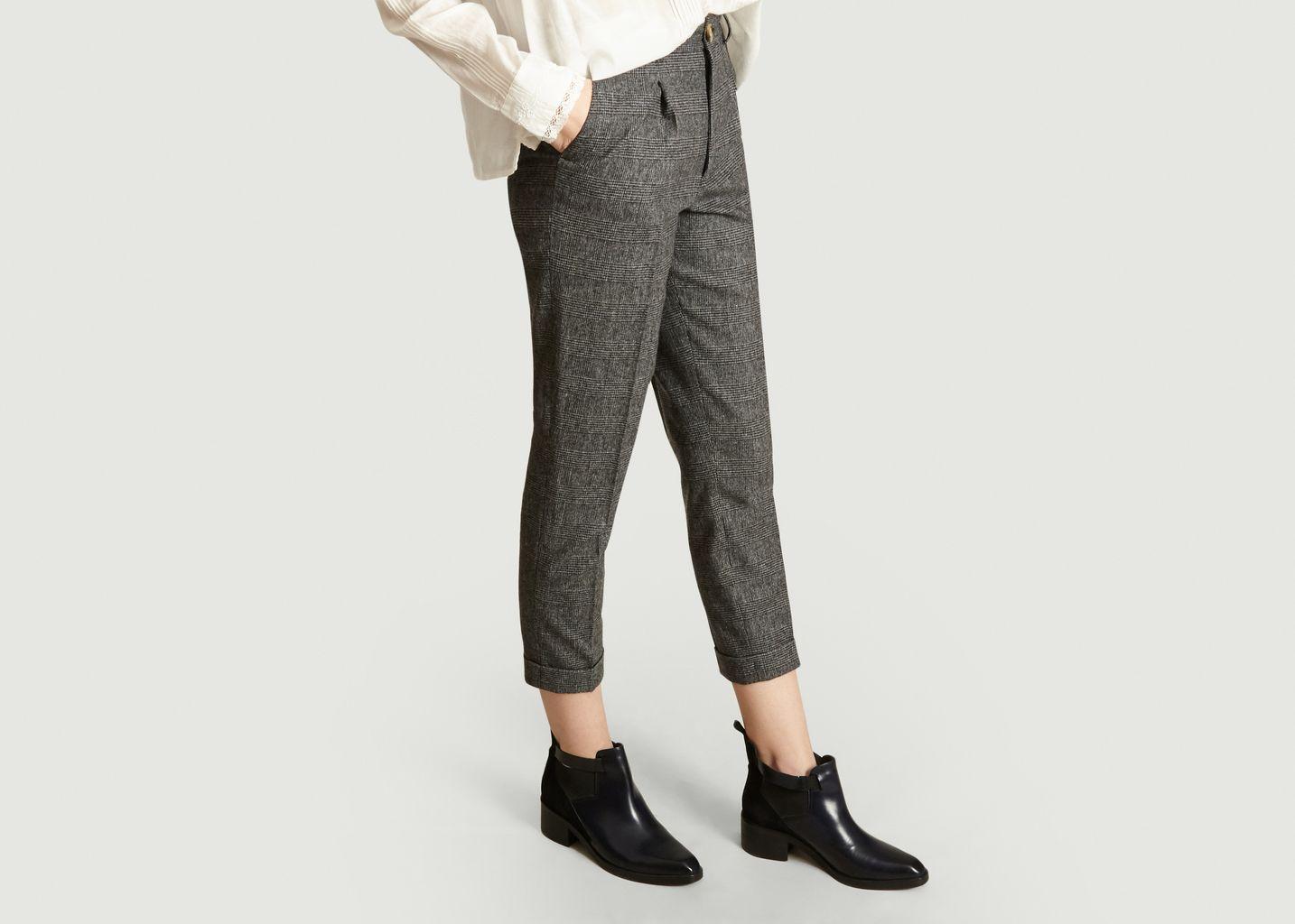 Pantalon Motif Prince-De-Galles Prosper  - Leon & Harper