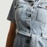 matière Robe En Jean Bleached Russel - Leon & Harper