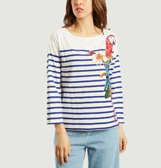 Parrot Sailor Stripe T-shirt