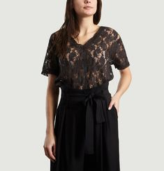 Top Manches Courtes Terrible Lace