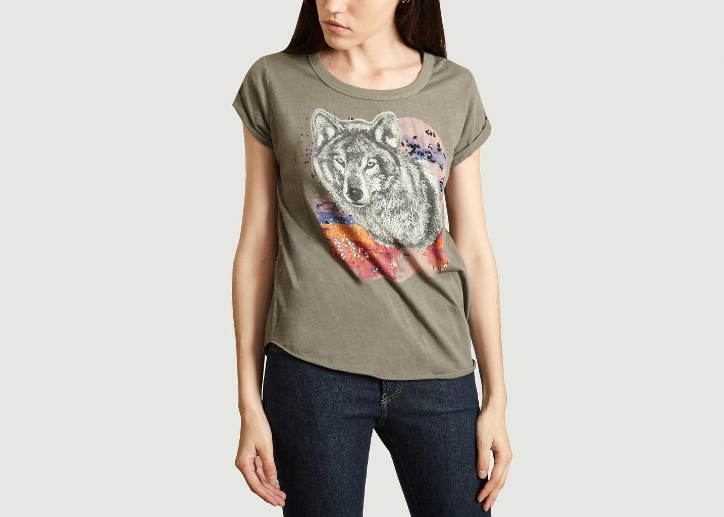 T-Shirt Tova Print Loup - Leon & Harper
