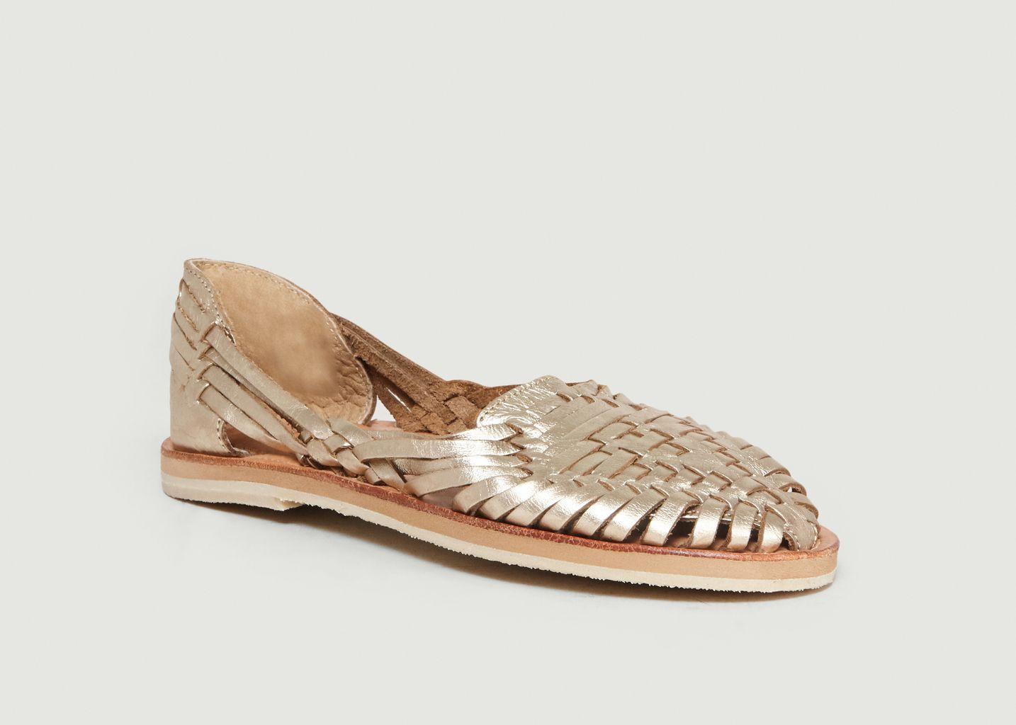 Sandales Plates En Cuir Pachuca - Leon & Harper