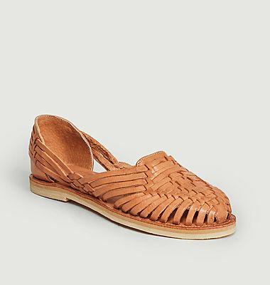 Sandales Plates En Cuir Pachuca