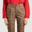 matière Pantalon 7/8e à carreaux Prosper - Leon & Harper