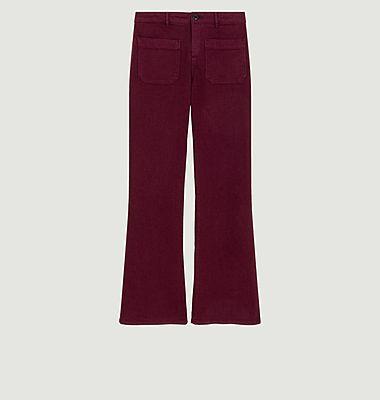 Pantalon évasé en coton Perfect