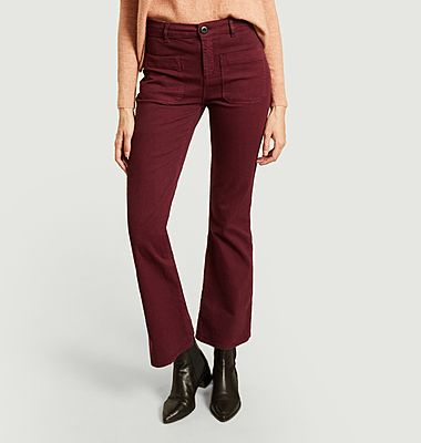 Perfect cotton flared trousers