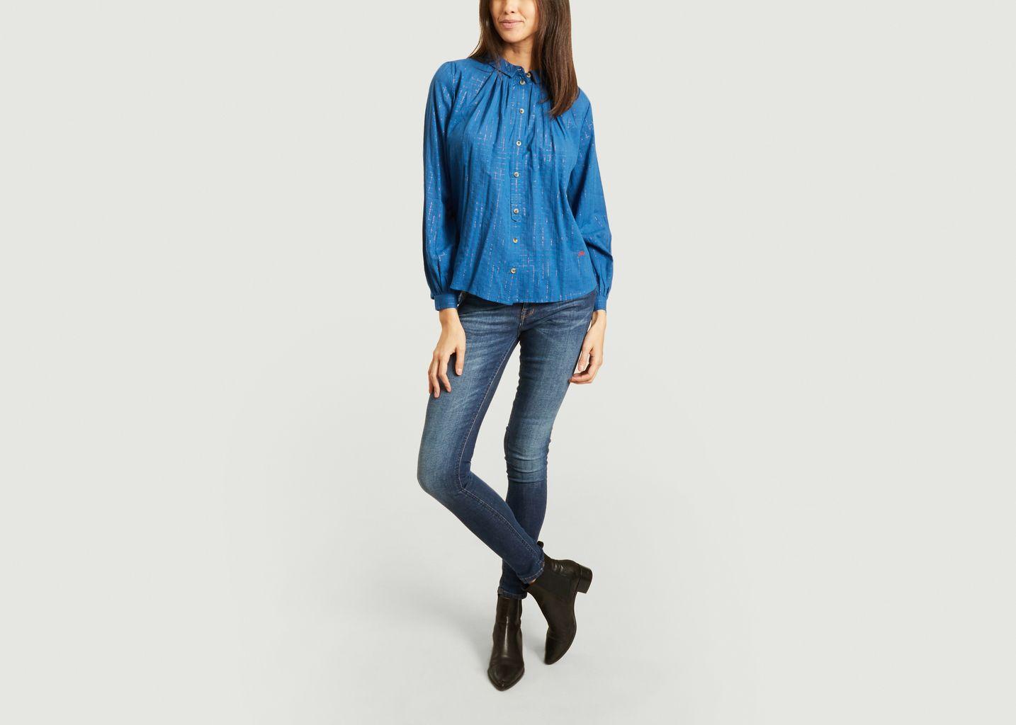 Chemise à carreaux lurex Constance - Leon & Harper