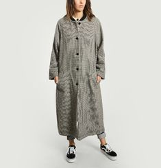 Oversized Houndstooth Coat