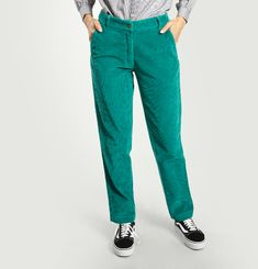 Pantalon Boyhood en Velours Mille Raies
