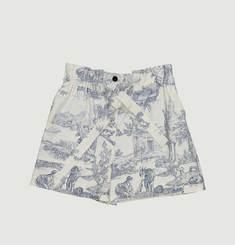 Trap toile de jouy print shorts