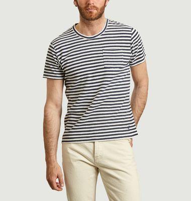 T-shirt rayé en coton éponge Emilio Napoli