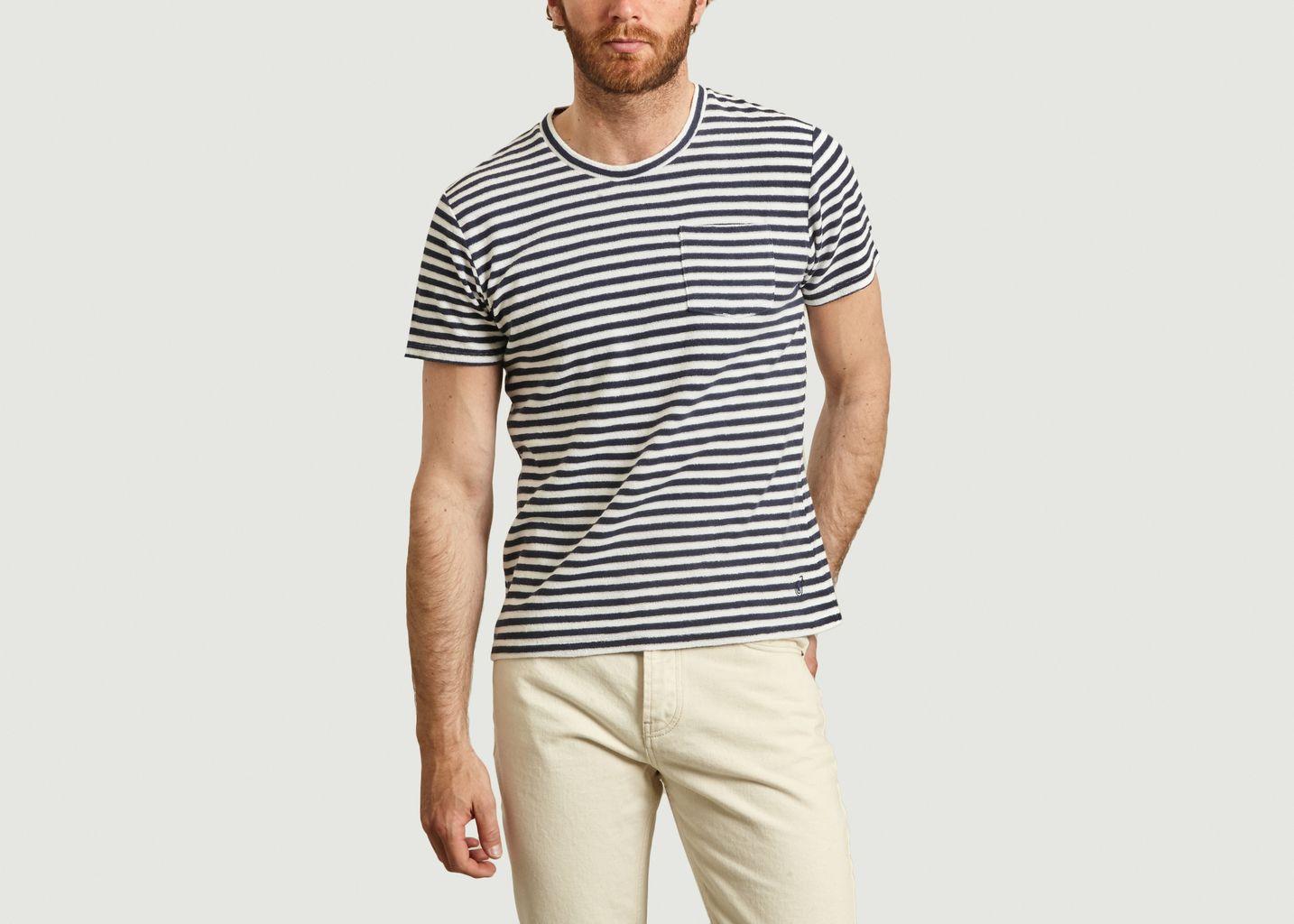 T-shirt rayé en coton éponge Emilio Napoli - Les Garçons Faciles