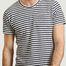 matière T-shirt rayé en coton éponge Emilio Napoli - Les Garçons Faciles