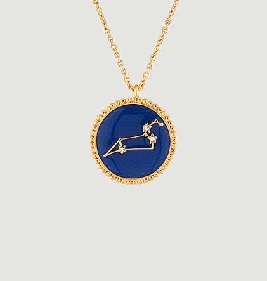 Collier avec pendentif signe astrologique Lion
