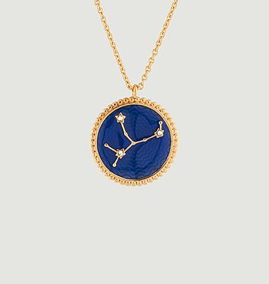 Collier avec pendentif signe astrologique Vierge
