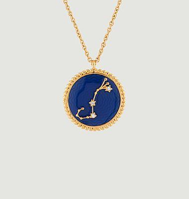 Collier avec pendentif signe astrologique Scorpion