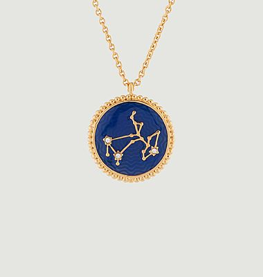 Sagittarius astrological sign necklace with pendant