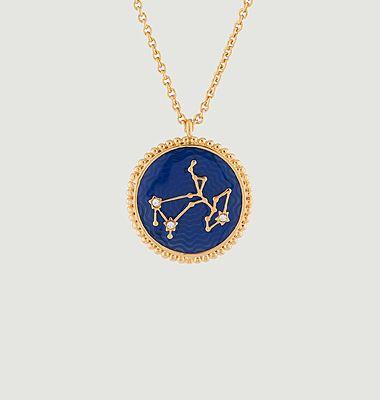 Collier avec pendentif signe astrologique Sagittaire