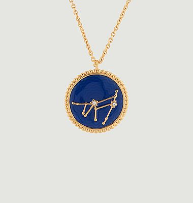 Capricorn astrological sign necklace with pendant