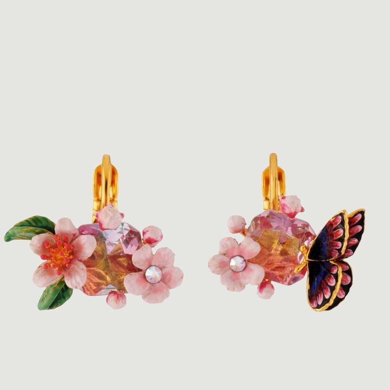 BO dormeuses fleur de cerisier et papillon du Japon - Les Néréides