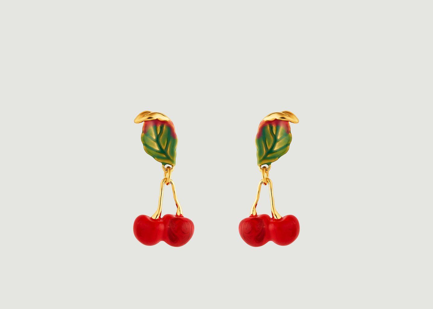 Boucles d'oreilles Exquise Cerise - Les Néréides