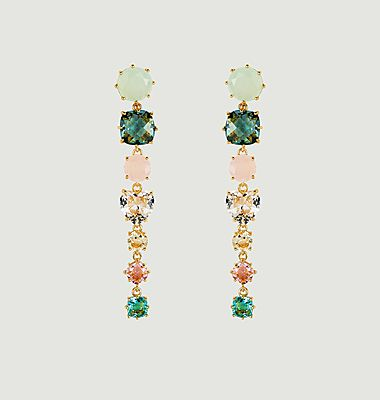 Boucles d'oreilles La Diamantine tiges 7 pierres