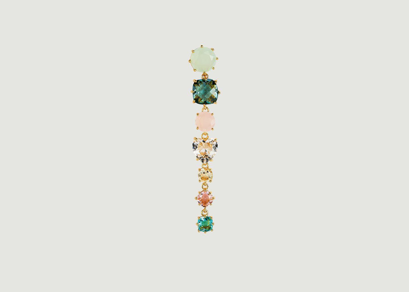 Boucles d'oreilles La Diamantine tiges 7 pierres - Les Néréides