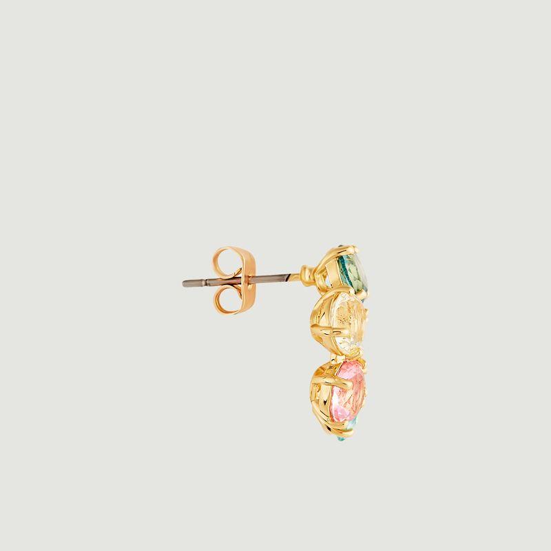 Boucles d'oreilles créoles La Diamantine Cercle - Les Néréides