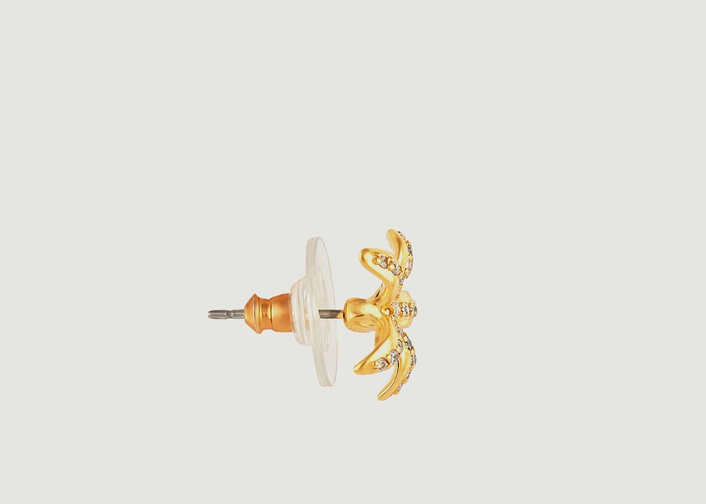 Boucles d'oreilles asymétriques Jasmin Étoilé - Les Néréides