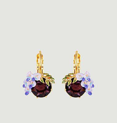 Boucles d'oreilles dormeuses Petite Fleur de Glycine