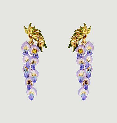 Boucles d'oreilles Fleur de Glycine