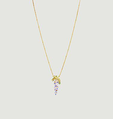 Collier pendentif Fleur de Glycine