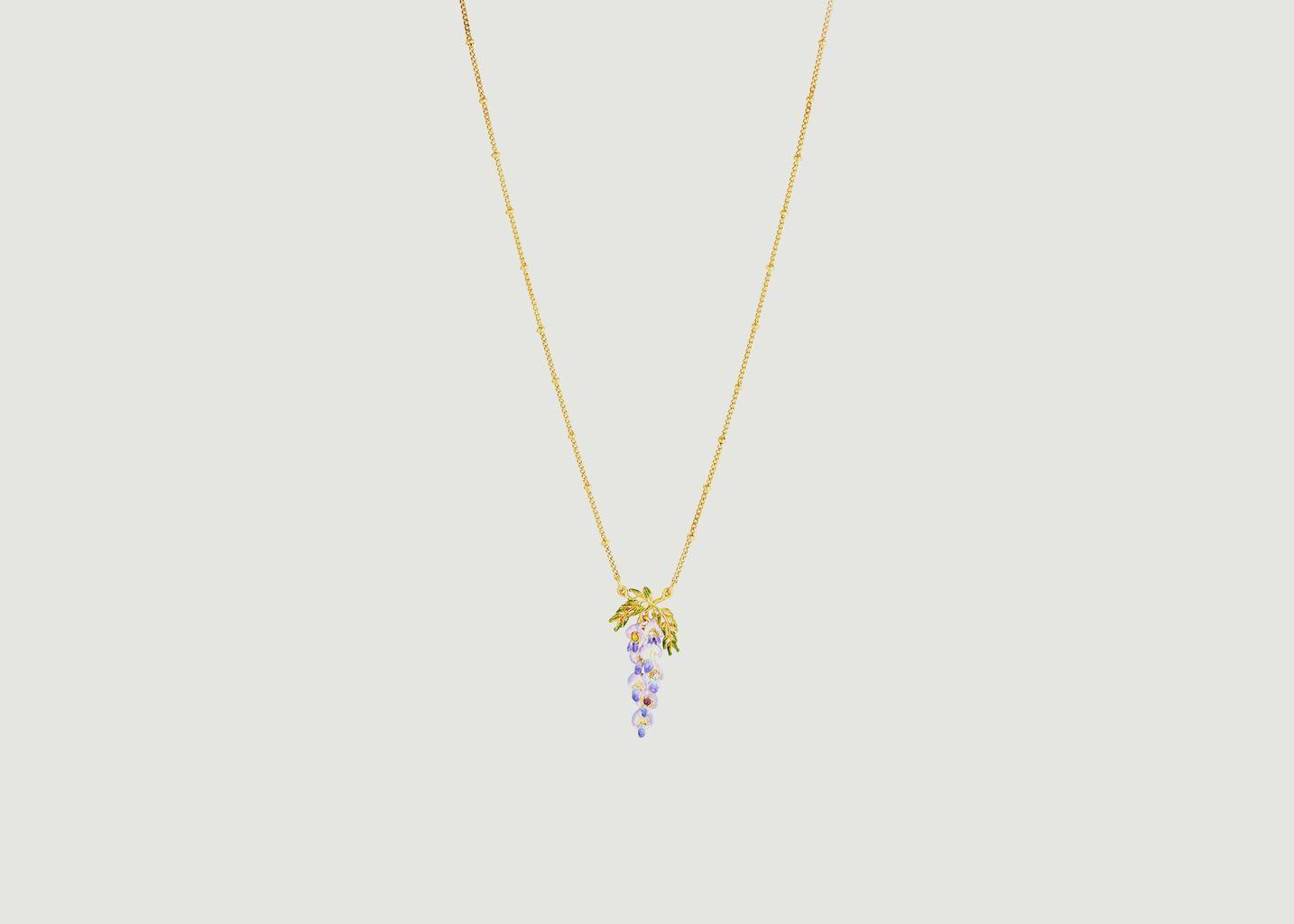 Collier pendentif Fleur de Glycine - Les Néréides