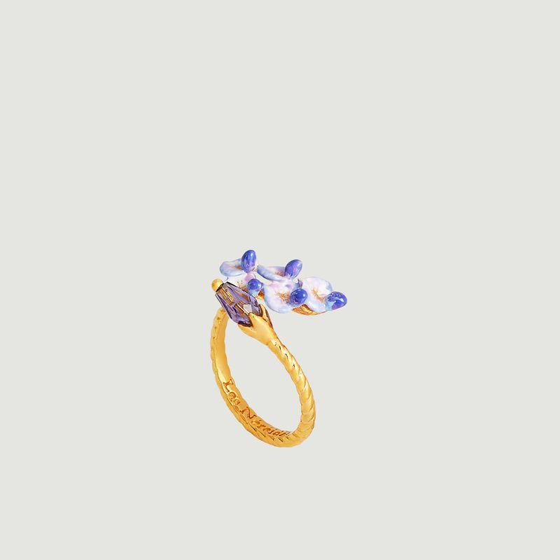 Bague ajustable Fleur de Glycine - Les Néréides