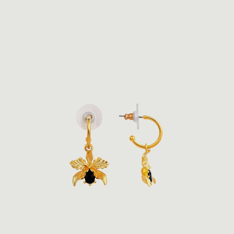 Boucles d'Oreilles Tiges Orchidée Flamboyante - Les Néréides