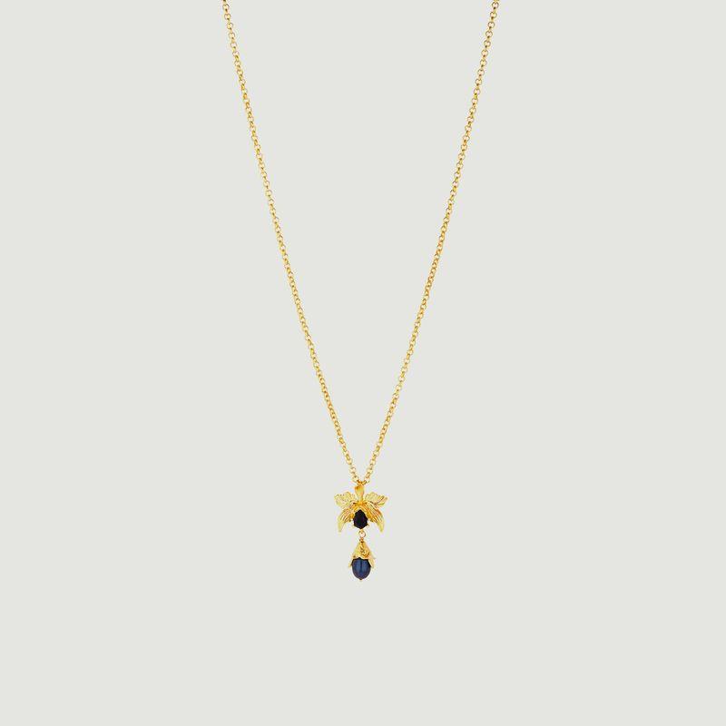 Collier Pendentif Orchidée Flamboyante - Les Néréides