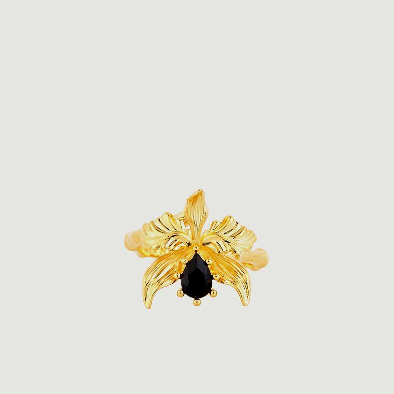 Bague Ajustable Orchidée Flamboyante - Les Néréides