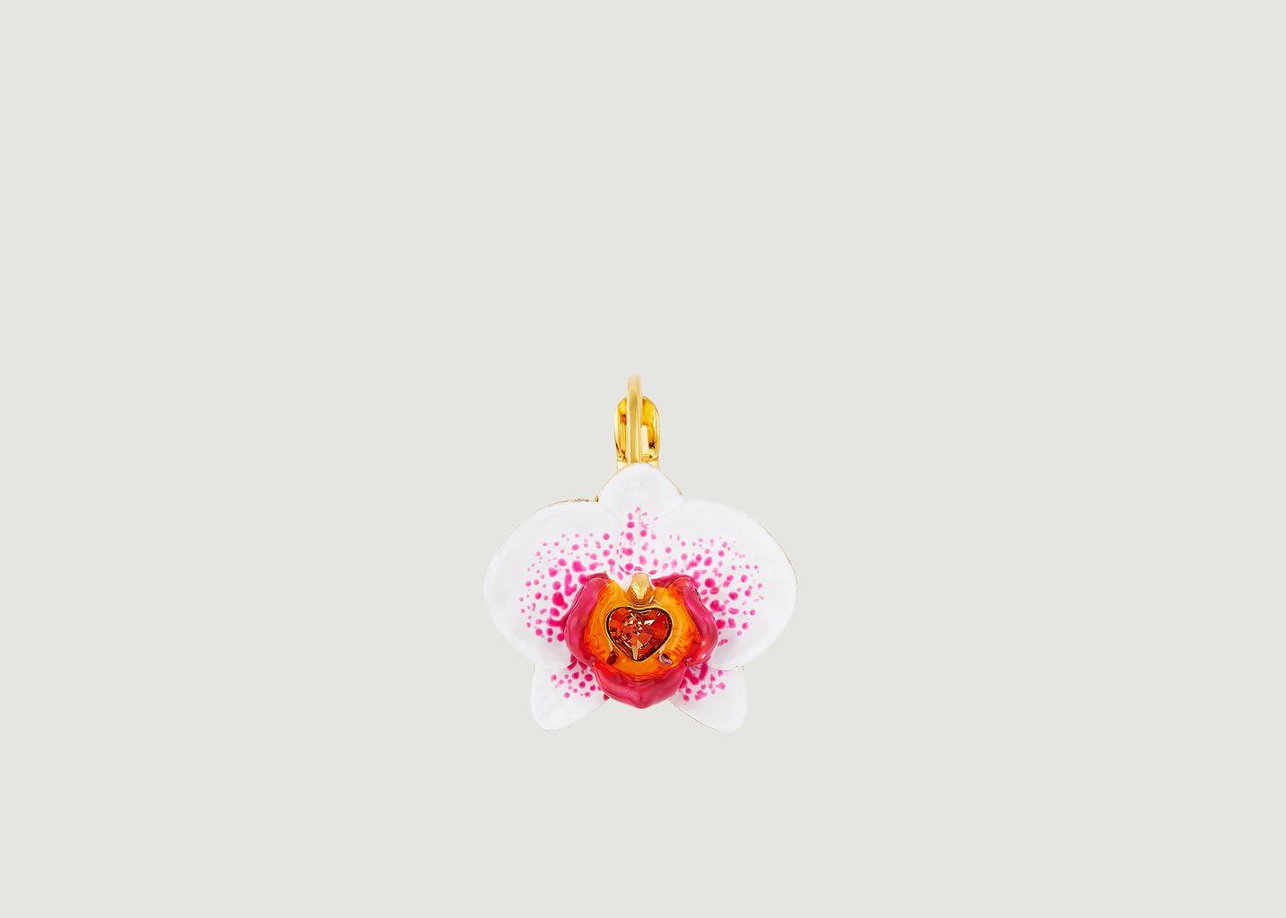 Boucles d'oreilles Dormeuses Rêves d'Orchidées - Les Néréides